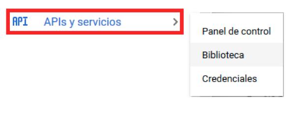 Biblioteca de APIs y servicios de Google Cloud Platform