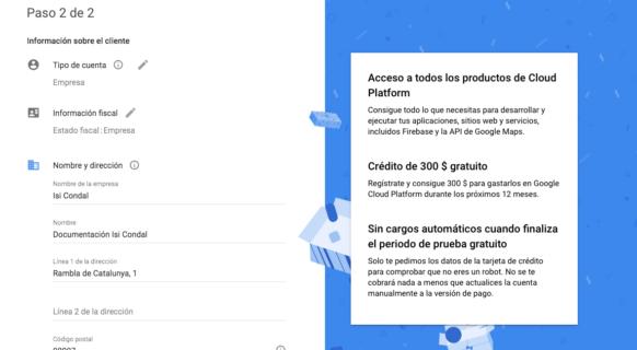 Registro en «Google Cloud Platform»